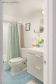 modern bathroom with blue hex tile floor contemporary bathroom