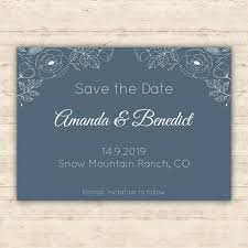 save the date cards free blue floral save the date card vector free