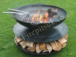 Fire Pit Ring With Grill by Fire Pit Classic Ring Of Logs 90 Firepits Uk