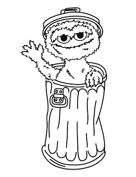 oscar the grouch from sesame street coloring page color luna