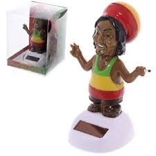 rasta solar powered solar pal ornament bob marley