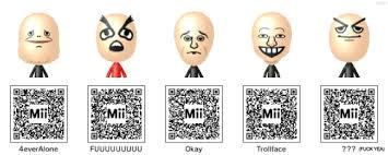 Meme Qr Code - codes for 3ds mii s of your favorite memes