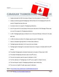 canadian thanksgiving true false quiz teaching tidbits