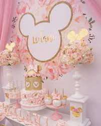 minnie mouse 1st birthday party ideas pink and gold minnie mouse birthday party