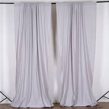 10ft silver polyester fire retardant curtain stage backdrop