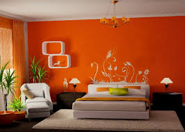 bedroom with brown wallpaper decorating room ideas general room decor colors that add life to your room orange crush