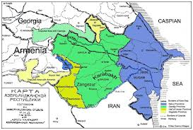 Map Of Armenia Map Of Azerbaijan Map Also Includes Parts Of Surrounding
