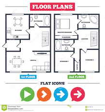 Kitchen Symbols For Floor Plans Arrow Icons Next Navigation Signs Symbols Stock Vector Image