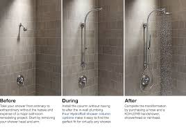 hydrorail shower columns bathroom new products bathroom kohler