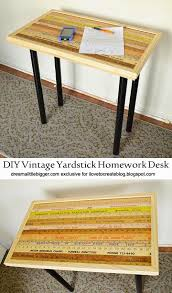 ilovetocreate blog diy vintage yardstick homework desk