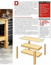 simple workbench plans woodarchivist