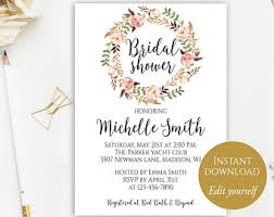 bridal shower invitation template bridal shower invitation instant bridal shower