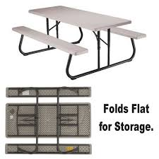Lifetime Folding Picnic Table Assembly Instructions by Buy Lifetime Folding Picnic Table 6 U0027 At S U0026s Worldwide