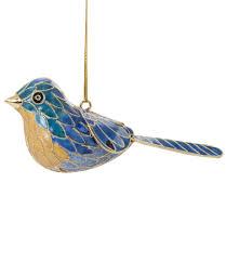 cloisonne singing bird ornament