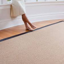 Synthetic Sisal Area Rugs Synthetic Sisal Style Name Oxford Color Nutmeg With Faux Leather