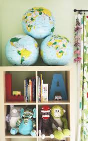 Storage Units For Kids Rooms by Inflatable Globes For Kids U0027 Room Kids Rooms Globe And Shelves
