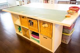 sewing cutting table ikea diy sewing and cutting table with storage cubbies underneath
