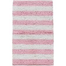 Loop Bath Rug Home Paper Chindi Pink And White Loop Bath Rug 27x45