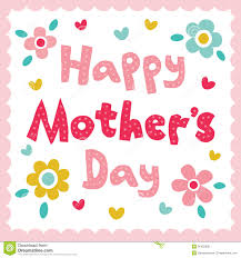 happy mothers day card stock photo image 36422600