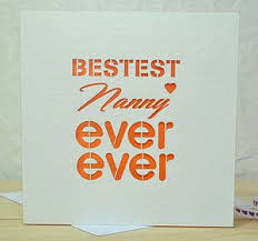 mothers day gift for nanny bestest nanny laser cut card view all s day