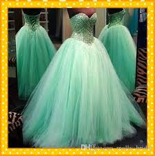 2017 sweet mint color quinceanera dresses for 15 year ball gown