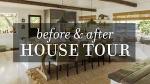 house tour before u0026 after diy modern farmhouse transformation