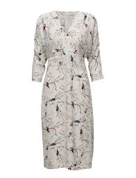 coster copenhagen eksklusive coster copenhagen kimono dress w bird print bird print