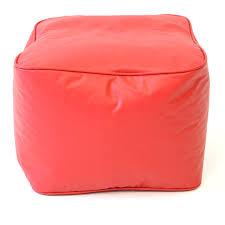 Bean Bag Chair With Ottoman Amazon Com Gold Medal Bean Bags Leather Look Vinyl Ottoman