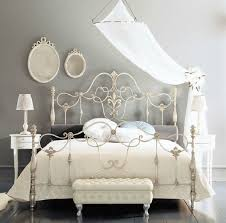 elegant bed stylish and original iron bed frames for a chic interior in the