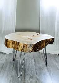 Diy Reclaimed Wood Side Table by Root Coffee Tables Root Tables Log Furniture Large Wood Stump