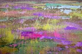 Abstract Landscape Painting by Colourful Prairie And Big Sky Abstract Landscape Painting By