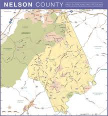 Virginia County Maps by Local Attractions In Nelson County