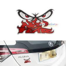 jdm honda sticker 1 jdm japan style angry eyes w no fear sticker decal for car suv