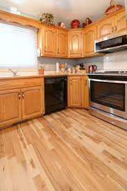 honey oak kitchen cabinets with wood floors pairings tips to updating your flooring with 90 s