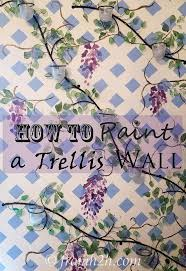 how to paint a trellis wall hometalk