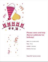 party invitation birthday party invitation office templates