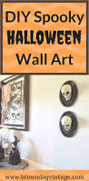 spooky diy halloween wall art brown dog vintage