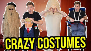 Internet Meme Costumes - trying on the weirdest halloween costumes youtube