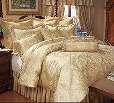 Gold Bed Set 9 Gold Imperial Comforter Set Home Kitchen