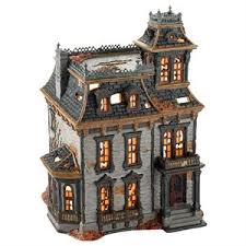 Spooky Village Halloween Decorations by Haunted Light Up Mordecai Mansion Ceramic House Spooky Halloween