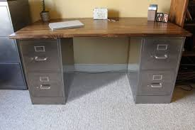 Metal Filing Cabinet 4 Drawer 4 Drawer Rustic Desk Metal Filing Cabinet Industrial Desk