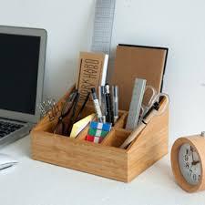 qoo10 nelio bamboo wooden desk organizer tray remote
