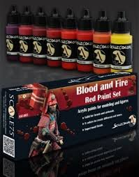 blood red paint scale75 scale color blood and fire red paint set of 8 17ml acrylic