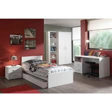 ensemble bureau biblioth ue ensemble 5 pièces pour chambre moderne avec lit 90x200 cm chevet
