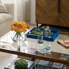 table picture display ideas coffee table tray ideas crate and barrel blog