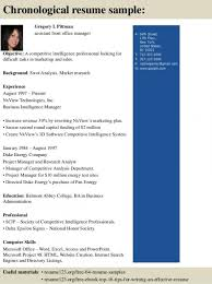 chronological resume exle chronological resume sle tgam cover letter