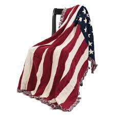 American Flag Magnet Flag Afghan Throw