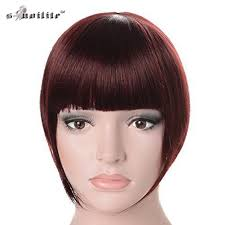 clip in bangs snoilite women synthetic clip in bangs fringe front on hair
