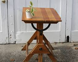 Iron Drafting Table Iron And Wood Table Etsy