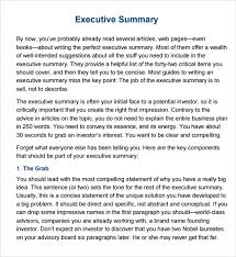 best photos of template of executive summary free sample